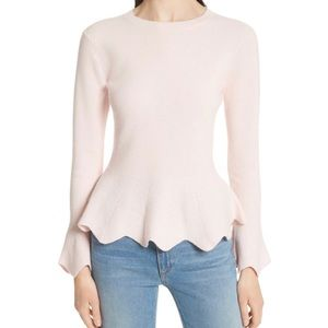 Ted Baker Bobbe Sweater with Bell Sleeves - Pink